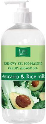 Fresh Juice Żel pod prysznic kremowy Avocado i Mleko Ryżowe 500ml 1