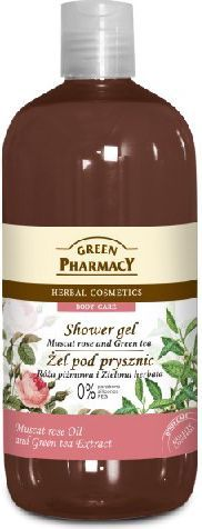 Green Pharmacy Żel pod prysznic Róża Piżmowa&Zielona Herbata 500ml 1