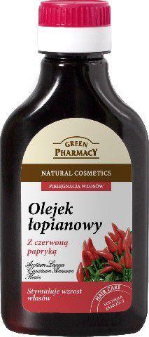 Green Pharmacy Olejek łopianowy z czerwoną papryką na wzrost włosów 100 ml 1