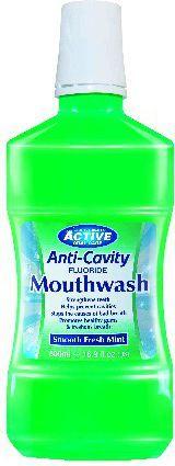 Active  Płyn do płukania jamy ustnej Fresh Mint z fluorem 500 ml 1