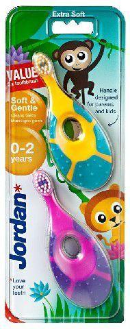 Jordan  Szczoteczka do zębów DUO Soft & Gentle dla dzieci (0-2 lat) bardzo miękka 1 op-2szt 1