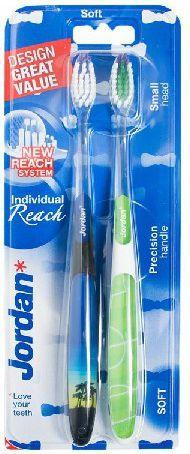 Jordan  Szczoteczka do zębów DUO Individual Reach Soft - mix kolorów 2szt 1