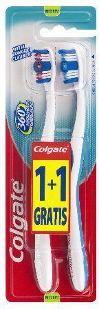 Colgate Szczoteczka 360° Whole Mouth Clean Średnia 1+1 gratis 1