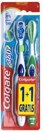 Colgate Szczoteczka 360° Whole Mouth Clean Miękka 1+1 gratis 1
