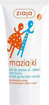 Ziaja Maziajki żel do zębów dla dzieci smak gumy balonowej 50 ml 1