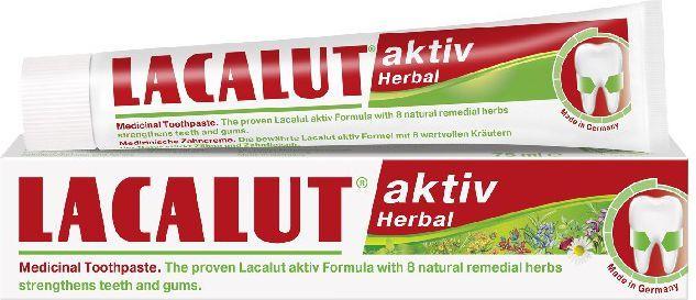 Lacalut  Pasta do zębów Activ Herbal 75 ml 1