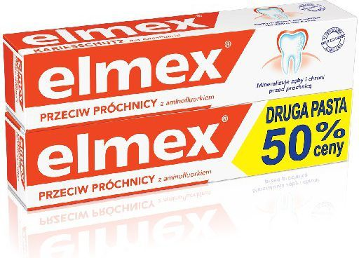 Elmex  Pasta do zębów + druga za 50% ceny 2 x 75 ml 1