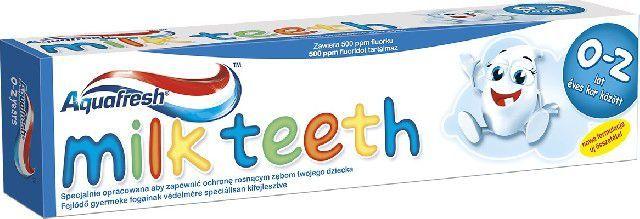 Aquafresh  Pasta Milk Teeth dla dzieci 0-2 lat 50ml 1