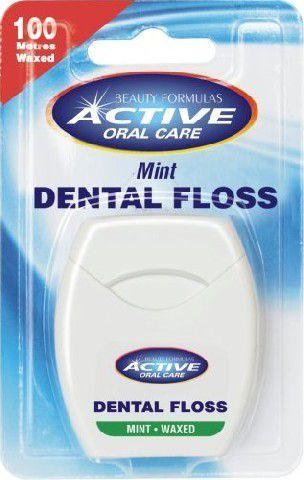 Active  Oral Care Nić dentystyczna miętowa woskowana 1