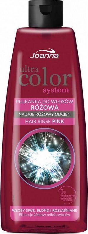 Joanna Ultra Color System Płukanka do włosów różowa 150 ml 1