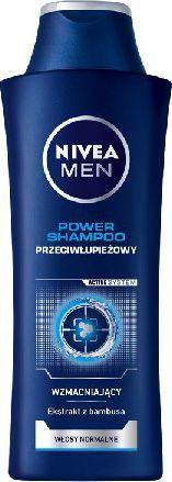 Nivea Hair Care Szampon PRZECIWŁUPIEŻOWY POWER for men 400ml 1