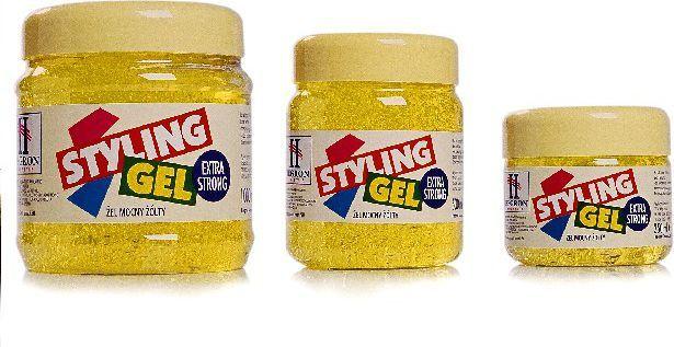 Hegron Styling Żel do modelowania włosów extra strong żółty 500 ml 1