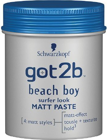 Schwarzkopf Got2b Beach Boy Pasta modelująca matująca 100 ml 1