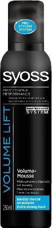 Syoss Volume Lift Pianka do włosów extra mocna zwiększająca objętość 250 ml 1