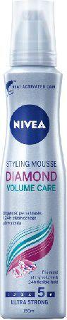 Nivea Hair Care Styling Pianka do włosów Diamond Volume Care ultra mocna 150 ml 1
