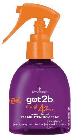 Schwarzkopf Got2b Straight On 4 Days Lakier prostujący włosy 200 ml 1