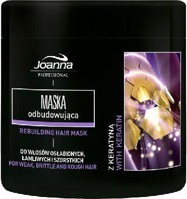 Joanna Profesjonalna Stylizacja Pielęgnacja Maska z keratyną do włosów osłabionych, łamliwych i szorstkich 500 g 1