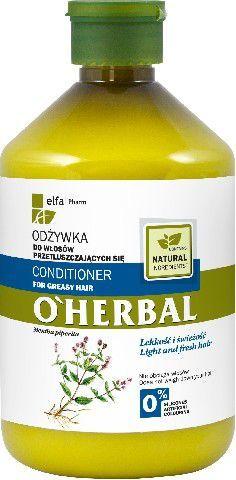 Elfa Pharm O'Herbal Odżywka do włosów przetłuszczających mięta 500ml - 810616 1