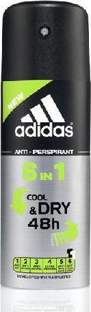 Adidas for Men Cool & Dry Dezodorant spray 6w1 150ml 1