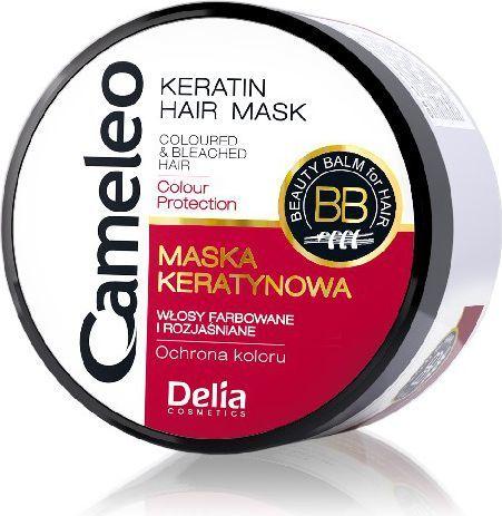 Delia Cameleo Maska keratynowa do włosów farbowanych 200 ml 1