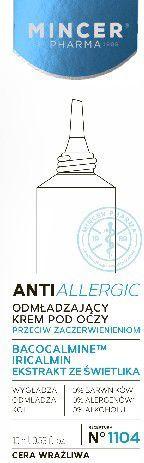 Mincer Pharma Anti Allergic Krem odmładzający pod oczy do cery wrażliwej 15ml 1