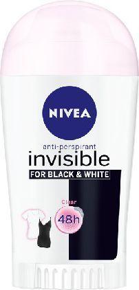 Nivea Dezodorant INVISIBLE Black&White CLEAR sztyft damski 40ml 1