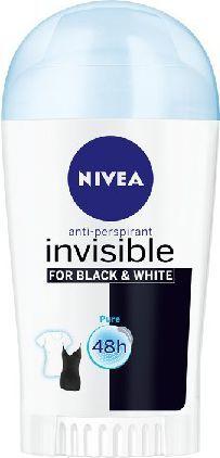 Nivea Dezodorant INVISIBLE Black&White PURE sztyft damski 40ml 1