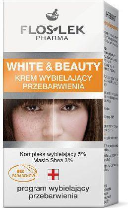FLOSLEK White and Beauty Krem wybielający przebarwienia 50 ml 1