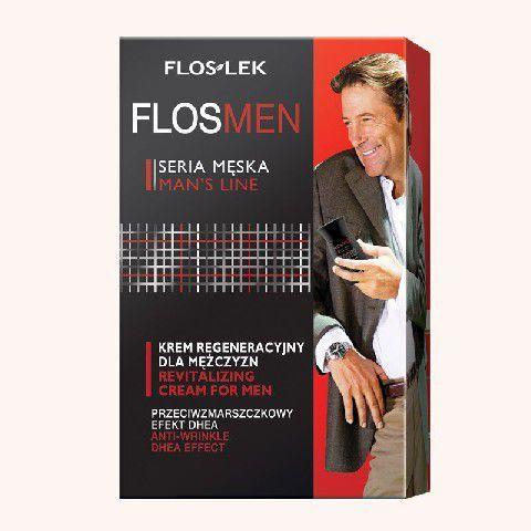 FLOSLEK FlosMen Przeciwzmarszczkowy krem regeneracyjny efekt DHEA 50 ml 1