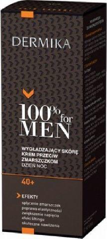 Dermika 100% for Men Krem 40+ wygładzający na dzień i noc 50ml 1