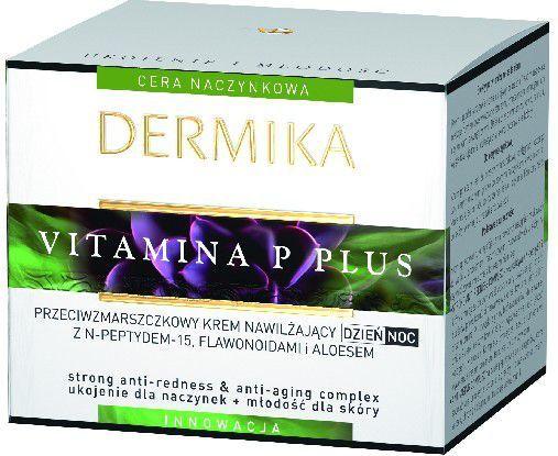 Dermika Vitamina P Plus Krem przeciwzmarszczkowy nawilżający na dzień i noc 50ml 1