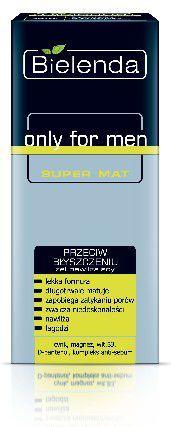 Bielenda only for men SUPER MAT Żel nawilżający przeciw błyszczeniu się skóry 50ml 1