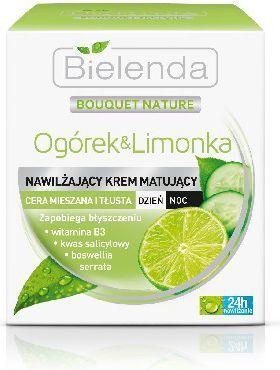 Bielenda Ogórek i limonka Krem matująco normalizujący do skóry tłustej i mieszanej na dzień i na noc 50ml 1