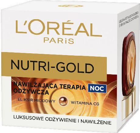 L'Oreal Paris Dermo Nutri-Gold Nawilżająca terapia odżywcza na Noc 50ml 1