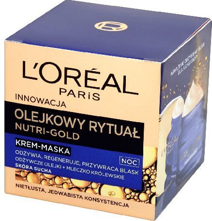 L'Oreal Paris Dermo Nutri Gold Olejkowy Rytuał Krem-maska na noc 50ml 1