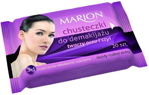 Marion Chusteczki do demakijażu twarzy ,oczu i szyi do każdej skóry 1op.-20szt 1