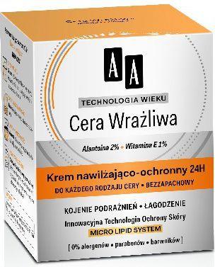 AA Technologia Wieku Cera Wrażliwa Krem nawilżająco-ochronny do każdego rodzaju cery 50ml 1
