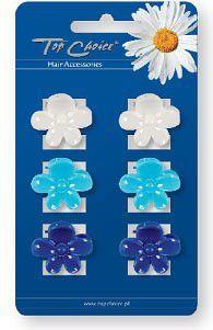 Top Choice Klamerki kwiatki niebieskie 6szt 24153 1