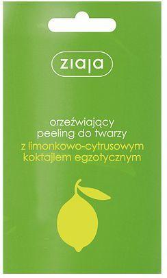 Ziaja Seria Limonkowo-Cytrusowa Peeling do twarzy 1 op-20szt x 7ml 1