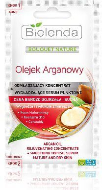 Bielenda Bielenda Olejek Arganowy Odmładzający koncentrat + Wygładzające serum punktowe cera dojrzała i sucha 2X5g - 136549 1