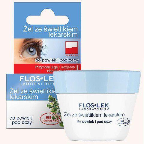 FLOSLEK Pielęgnacja oczu Żel ze świetlikiem do powiek słoik 10g 1