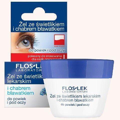 FLOSLEK Pielęgnacja oczu Żel ze świetlikiem i chabrem do powiek słoik 10g 1