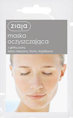 Ziaja Maska do twarzy oczyszczająca z glinką szarą 7ml 1