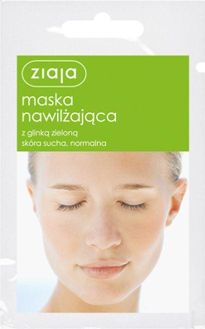 Ziaja Maska do twarzy nawilżająca z glinką zieloną 7ml 1