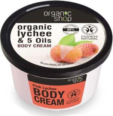 Organic Shop Krem do ciała - cera sucha i wrażliwa Różowy Lychee 250ml 1