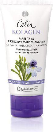 Celia Seria kolagenowa Maseczka przeciw zmarszczkom na twarz, szyję, dekolt i pod oczy 60 ml 1