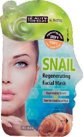 Beauty Formulas Formulas Maska do twarzy regenerująca ze śluzem ślimaka 1