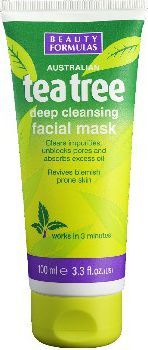Beauty Formulas Formulas Tea Tree Maska glinkowa głęboko oczyszczająca 100ml 1