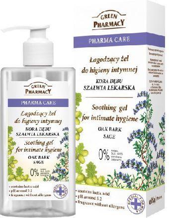 Green Pharmacy Pharma Care Żel do higieny intymnej łagodzący Kora Dębu-Szałwia 300ml 1