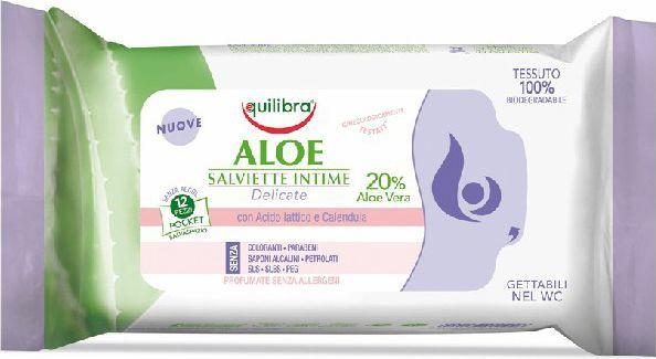Equilibra Aloe Chusteczki do higieny intymnej 1 op.-12szt 1